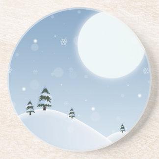 Porta-copos Cena da neve do inverno