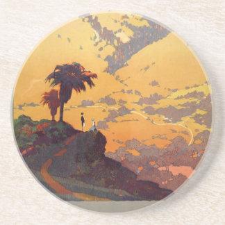 Porta-copos Cena do poster do turismo de Califórnia do vintage