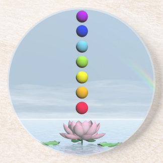Porta-copos Chakras e arco-íris - 3D rendem