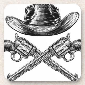 Porta-copos Chapéu de vaqueiro e armas cruzadas