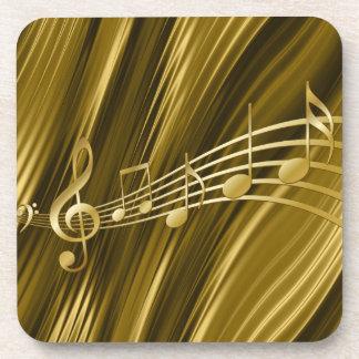 Porta-copos Chave dourada do violino