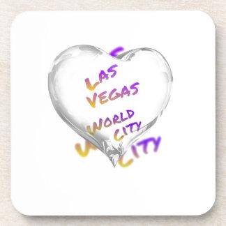 Porta Copos Cidade do mundo de Las Vegas, coração