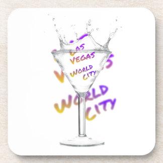 Porta Copos Cidade do mundo de Las Vegas, vidro de água