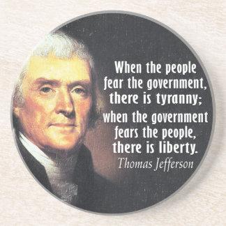 Porta-copos Citações de Thomas Jefferson na liberdade