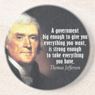 Porta-copos Citações de Thomas Jefferson no governo grande