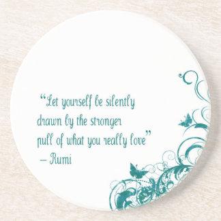 Porta-copos Citações do amor de Rumi