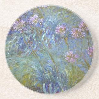 Porta-copos Claude Monet - pintura clássica das flores do