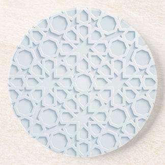 Porta-copos coaste geométrico marroquino inspirado islâmico do