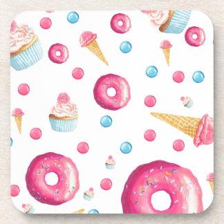 Porta Copos Colagem cor-de-rosa da rosquinha