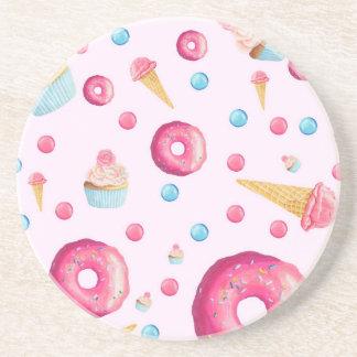Porta-copos Colagem cor-de-rosa da rosquinha