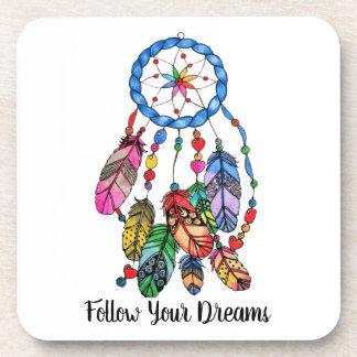 Porta Copos Coletor do sonho do arco-íris da aguarela &