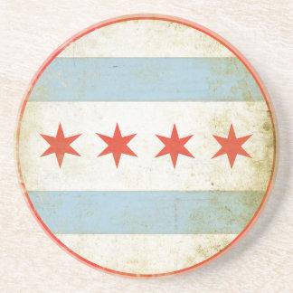 Porta copos com a bandeira afligida de Chicago