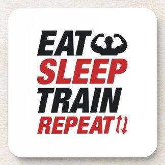 Porta-copos Coma a repetição do trem do sono