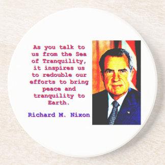 Porta-copos Como você nos fala - Richard Nixon