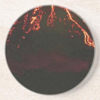 Porta-copos cone vulcânico nivelado