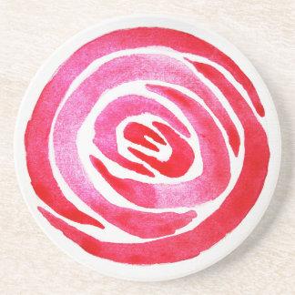 Porta copos cor-de-rosa do arenito do abstrato