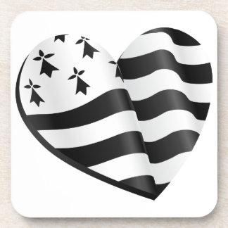 Porta Copos Coração bretão da bandeira
