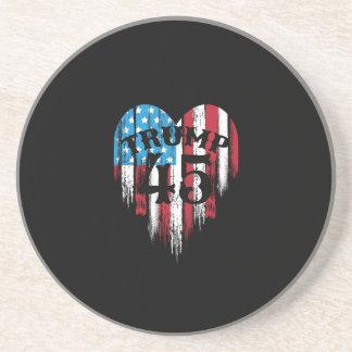 Porta-copos Coração da bandeira americana do trunfo