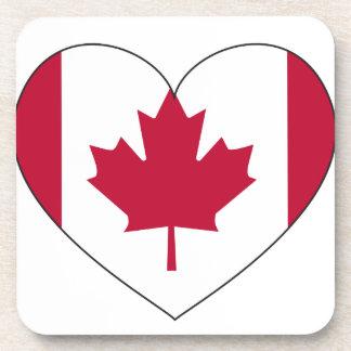 Porta Copos Coração da bandeira de Canadá