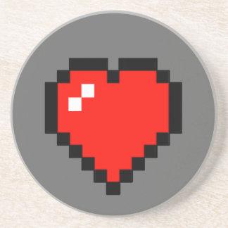 Porta-copos coração de 8 bits (cheio)