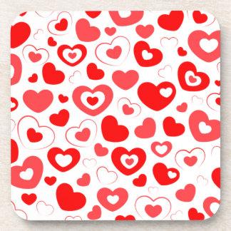 Porta-copos Coração elegante do amor