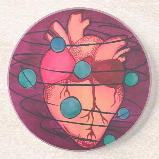 porta copos coração espacial