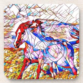 Porta-copos Corrida de cavalos do vitral