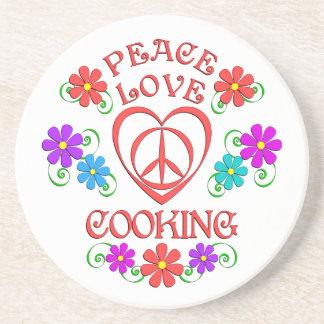 Porta-copos Cozinhar do amor da paz
