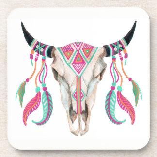 Porta-copos Crânio da vaca com coletores ideais