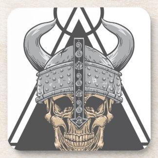 Porta-copos Crânio de Viking