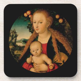 Porta Copos Criança do Virgin sob a árvore de Apple Cranach
