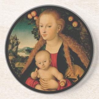 Porta-copos Criança do Virgin sob a árvore de Apple Cranach