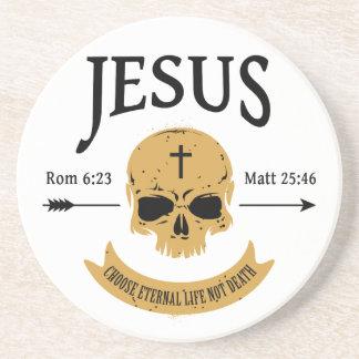 Porta-copos Cristão da vida eterna do crânio de Jesus