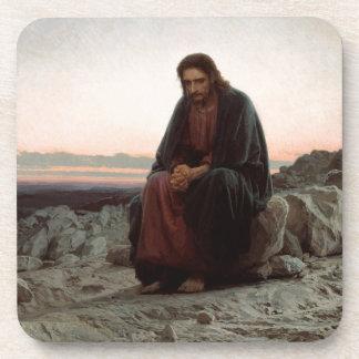 Porta Copos Cristo na região selvagem - belas artes de Ivan