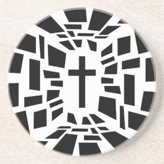 Porta-copos Cruz cristã