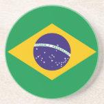 Porta copos da bandeira de Brasil