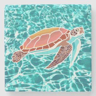 Porta copos da bebida da tartaruga de mar da boba porta-copos de pedra