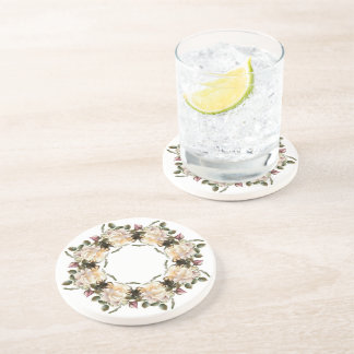 Porta copos da bebida do arenito da grinalda do