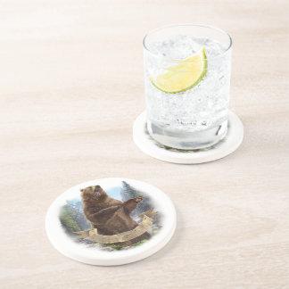 Porta copos da bebida do arenito do urso de urso
