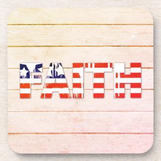 Porta copos da fé da bandeira americana