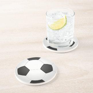 Porta copos da ilustração do futebol da bola de