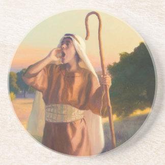 Porta copos da pedra da chamada do pastor
