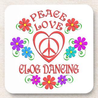 Porta-copos Dança de obstrução do amor da paz
