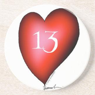 Porta-copos De Arenito 13 dos corações