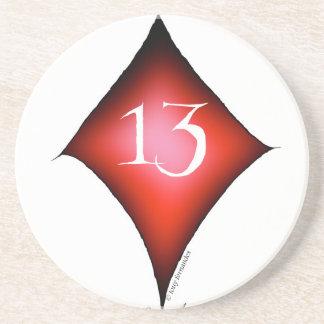 Porta-copos De Arenito 13 dos diamantes