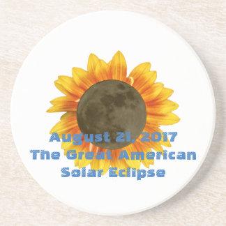Porta-copos De Arenito 2017 eclipse solar, edição do girassol
