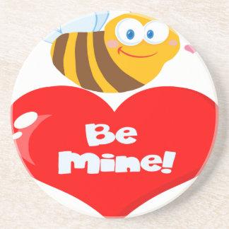 Porta-copos De Arenito A abelha bonito que guardara dizer do coração seja