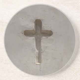 Porta-copos De Arenito A cruz cristã primitiva personaliza a bíblia