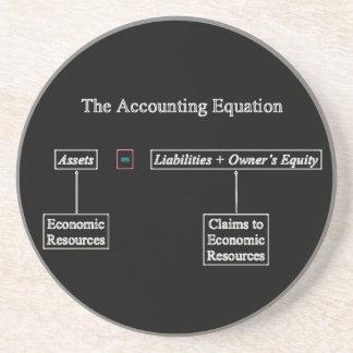 """Porta-copos De Arenito """"A equação da contabilidade """""""