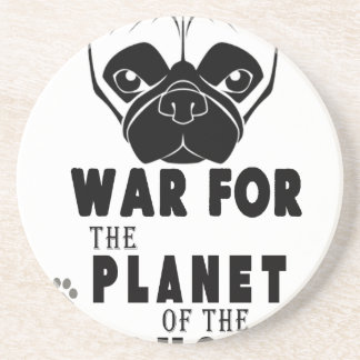 Porta-copos De Arenito a guerra para o planeta dos pugs refrigera o cão